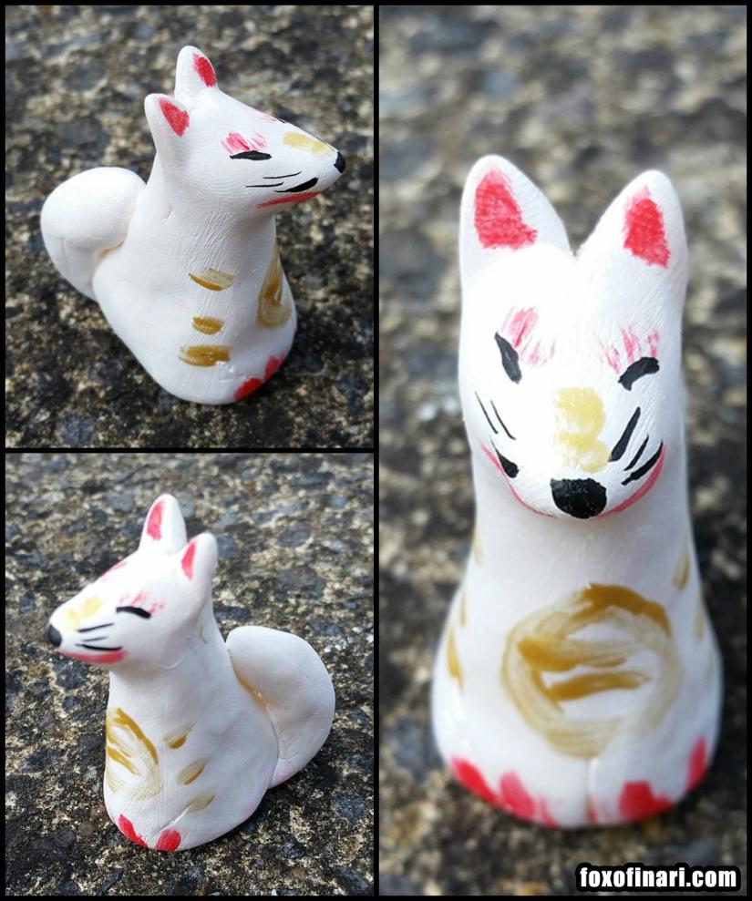 Small kitsune statue
