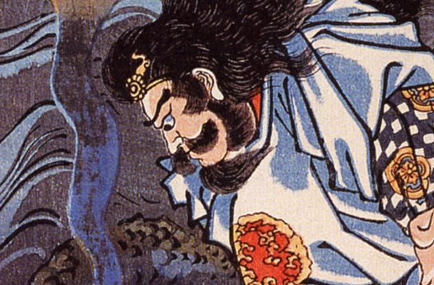 Classic depiction of Susanoo-no-Mikoto