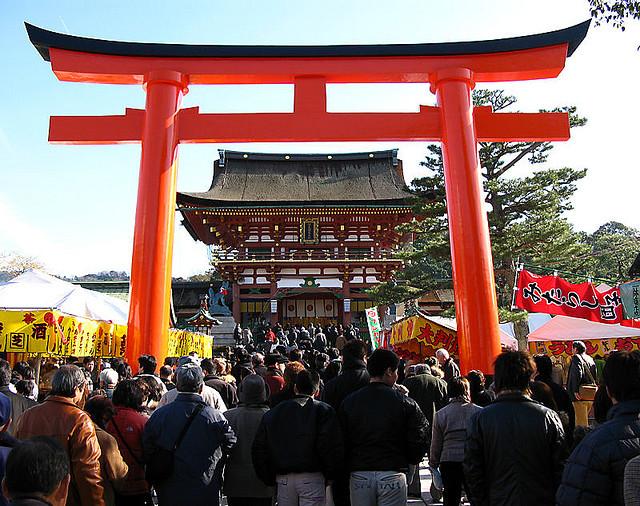 Hatsumode at Fushimi Inari Taisha. Image credit.