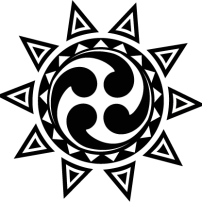 Polish sun symbol with four tomoe