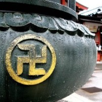 Swastika at Buddhist temple