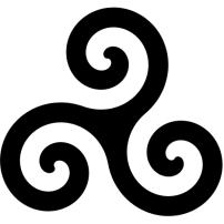 A Celtic triskelion